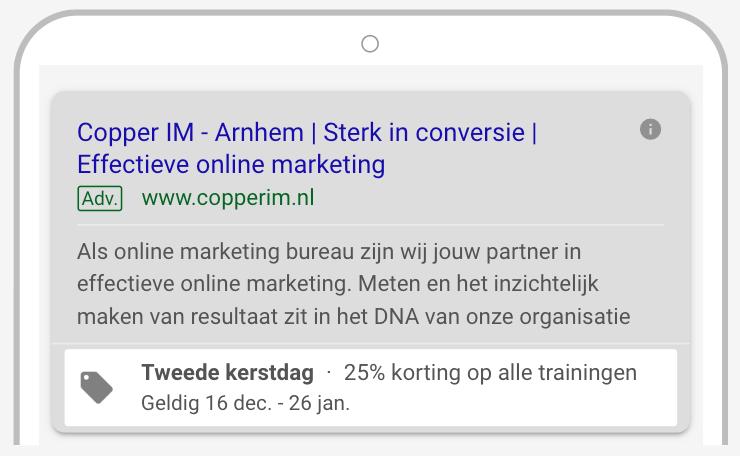 Promotie-extensie binnen Google Ads